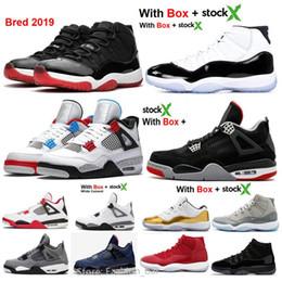 2020 Nouveau 11 Bred 4 gymnase Loyal concord rouge bleu 11s Chaussures de basket gros avec la boîte Stock X Noir Hommes Femmes Chaussures