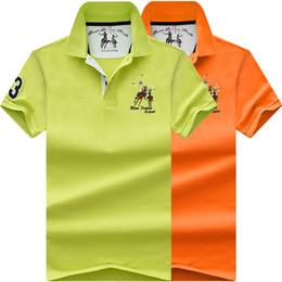 Polo del collare del basamento online-4XL Plus Uomo Summer New Cotton Classic Ricamo Polo Shirt Uomo Business Casual Manica corta Stand Colletto Top Tees Polo Uomo