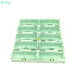 Deutschland Original 2 # Green Component Aufbewahrungsbox Square IC Components Boxen SMT SMD Wen tai Boxen Kombination Kunststoffkoffer Versorgung