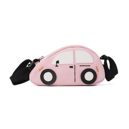 beach doll Promo Codes - New Kids Outing Colorful Cars Mini Doll Bag For Sport Girls Lovely Beach Satchel Crossbody Bag N0718