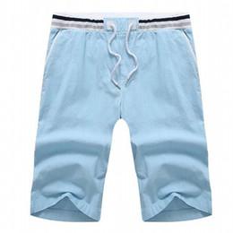 2020 cravatta biancheria da letto in cotone uomo Pantaloncini estivi degli uomini liberi di trasporto più il formato casuale pantaloncini di lino maschio Drawstring lunghezza del ginocchio pantaloni corti 3xl-10xl hip hop sconti cravatta biancheria da letto in cotone uomo