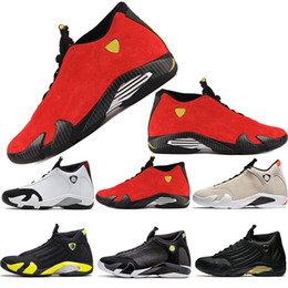 süßigkeiten zehen Rabatt Neue 14 14s Desert Sand Black Toe Fusion Varsity Roter Wildleder Donner Männer Basketball Schuhe Cool Grey DMP Candy Cane Jumpman Sneakers