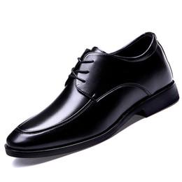 Höhe Zunehmende 6 CM Mann Schuhe Aus Echtem Leder Kleid Männer Schuhe Lace Up Italien Retro Business Mens Hochzeit Formale Oxford Schuhe Für Männer
