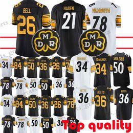 4dc8c14d510 26 Le Veon Bell 34 Terrell Edmunds Pittsburgh Steeler Jersey 50 Ryan  Shazier 21 Joe Haden 78 Villanueva Jerseys promotion