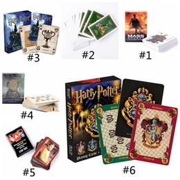 2019 tronos do jogo cartão 60set 6 estilos Harry Potter Jogo Cartas de Jogar Hogwarts Casa Game of Thrones Efeito De Massa De Poker À Prova D 'Água Cartões de Jogo Favor de Partido desconto tronos do jogo cartão