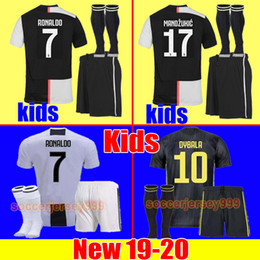 c88b49723 Juventus soccer Jersey kids Kit sets 2019 2020 RONALDO 18 19 20 DYBALA  PJANIC MANDZUKIC CHIELLINI boys football Shirt uniforms JUVE maglia
