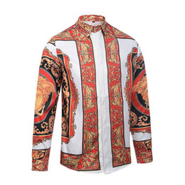 4a97aac244e Man Long Sleeves Shirt Male Style Young Men Korean Edition printed casual  Slim fit Work Clothes Tide