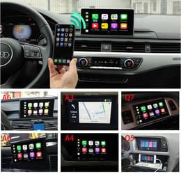 2019 adaptador de coche de alto voltaje Coche Apple Airplay Inalámbrico CarPlay Box Para Audi A3 A4 A5 A6 Q3 Q5 Q7 Sistema de actualización de pantalla original MMI