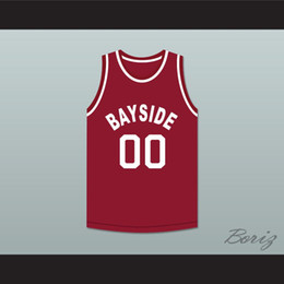 Glockennamen online-Saved By The Bell Screech 00 Bayside Tigers Basketball Jersey Auswärts-1 Gewohnheit jeder Name eine beliebige Anzahl freie Einkaufen