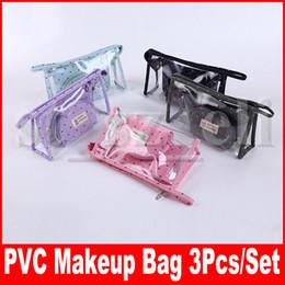 Trasparente sacchetto di lavaggio in pvc online-Borsa cosmetica con motivo a corona in PVC Borsa per trucco impermeabile trasparente con custodia da viaggio con cerniera Borsa da toilette Organizer da toilette 6 colori