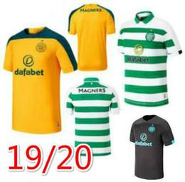Camisas de futebol marrom on-line-19 20 MCGREGOR GRIFFITHS Mens Futebol Celtic SINCLAIR FORREST BROWN Rogic CHRISTIE Casa Fora goleiro manga curta camisas de futebol