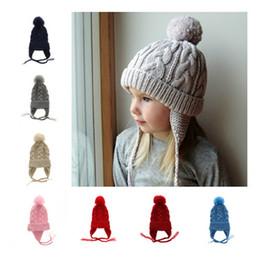 8f7cffa78e784 Los más nuevos niños Trenzado trenzado tejer sombreros bebé niños niñas  Ocio Crochet tapas niños Otoño Invierno cálido sombrerería sombrero 9  colores B11 ...