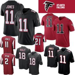 Atlanta 11 Julio Jones 21 Deion Sanders Falcon Jersey 18 Ridley 24 Devonta  Freeman 2 Matt Ryan Stitched Mens Color Rushred Jerseys fd412ebb7