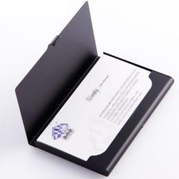 2019 настольные проекты для свадеб 50шт черный визитница в карманный бизнеса кредитных ID карты чехол алюминиевый бизнес держателя карты файлов серебристый алюминий