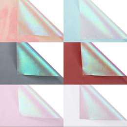 luce del fiore di carta Sconti Carta da pacchi di rose Sette colori Fiori di carta artistici Feste Fiori colorati freschi Articoli da imballaggio Nuovo arrivo 17hy L1