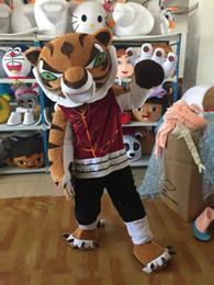 Kung fu tier cartoons online-Professionelle benutzerdefinierte Kung Fu Tiger Maskottchen Kostüm Cartoon König Tiger Tier Charakter Kleidung Halloween Festival Party Kostüm