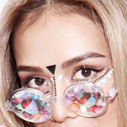 Runde Kaleidoskop-Gläser Frauen rave Festival Sonnenbrille Holographic Glasses Bunte Promi-Party-Brillen, die Brillen wandern von Fabrikanten