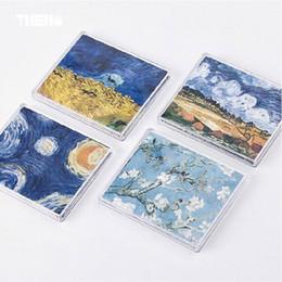 Pinturas de iluminación del paisaje online-Hermosas impresiones Van Gogh Dream Oil Paintings Carteras cortas Ligeras finas Suave Impermeable Monedero Parachoques Paisaje Divertido Bolsa Niza