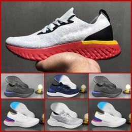 2019 cunhas escuras da marinha nike Flyknit Epic React 2019 melhor Fly Epic React Mens Running Shoes Colégio Marinha Triplo Preto Cinza Escuro Malha Designer Esporte Tênis 36-45 cunhas escuras da marinha barato