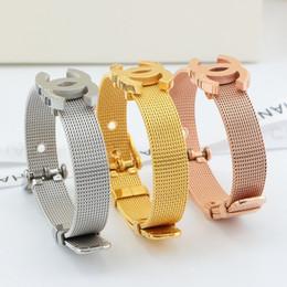Canada Nouvelle arrivée montre ceinture style bracelet et logo pour les femmes en acier inoxydable 316L amour bracelet mère et fille bijoux cadeau livraison gratuite PS53 supplier bracelet belt style Offre