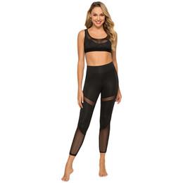 Женские спортивные брюки мода эластичная сетка брюки шить дышащие эластичные брюки до щиколотки для женщин supplier elastic ankle trousers от Поставщики эластичные штаны для брюк