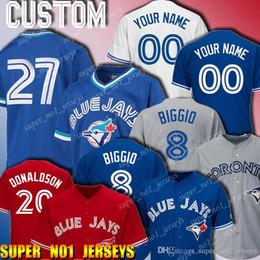 2019 camisola de basebol de flanela 8 personalizados Cavan Biggio jersey Toronto blue jays 27 Vladimir Guerrero Jr Jersey 19 Jose Bautista 20 jerseys Josh Donaldson 12 Roberto Alomar