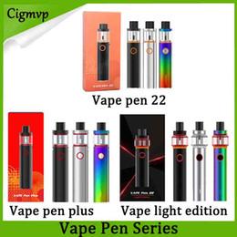 Canada SMOKING Vape Pen 22 kits de démarrage Edition légère Vape Pen Plus 1650mAh 3000mah Lipo Batterie avec 4 ml Led Mod. Cigarette Réservoir E Offre