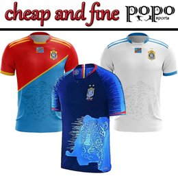 Cheap Fine Congo 19/20 Home Blue M. Нкунку Х. Лаколо Дж. Макизе Б. Обасси Футбольный свитер национальной команды Конго Футбольная форма от