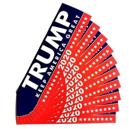 Decoración del hogar de invierno online-Moda 2020 Trump Etiqueta Elección General Donald Trump parche exquisita ultra delgado del coche del invierno pegatinas Inicio decoración de la pared TTA821-13