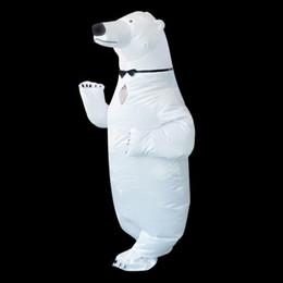 2019 mascote, traje, polar, urso Purim Inflável Traje Do Urso Polar Trajes Da Mascote Animal Fantasias Adulto Natal Traje Da Festa de Aniversário de Halloween mascote, traje, polar, urso barato