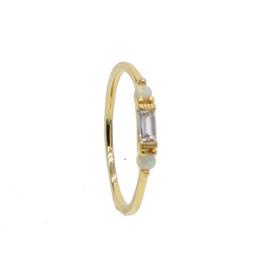 692f42f94bb2 Anillo directo de fábrica de color dorado para las mujeres finas delicadas  3 unid opal cz charm anillo delicado apilable elegante envío de la gota  anillos ...