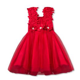 2019 vestido floral de pele falsa Novas meninas do bebê partido lace tule flor vestido de dama de honra extravagante dress vestido de verão meninas vestido menina princesa tutu vestido