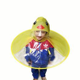 Bambini Cartone Animato Duck Impermeabile Ombrello UFO Forma Cappello da Pioggia