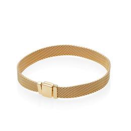 2019 relógios para homem Homens pulseira de ouro 18k amarelo relógio de mão cadeia reflexões pulseira set caixa original para pandora 925 pulseiras de prata esterlina mulheres presente relógios para homem barato