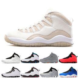 new product 6ebbf c1157 2019 Herren weiß 10 Basketball Schuhe Designer Herren 10er Tinker Huarache  Light Dark Smoke Grau Westbrook Ich bin zurück Cool Grey Cement Sneaker  Schuhe ...