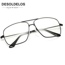 óculos ópticos mulheres Desconto Desoldelos óculos de armação de metal ouro do vintage dos homens das mulheres óculos de sol retro quadrado lente óptica eyewear nerd limpar óculos de lentes