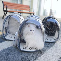 Cane trasportano borse zaini online-Borsa traspirante per gatti Borsa portatile per animali domestici Trasparente Traspirante da viaggio Pappagallo Zaino per uccelli Zaino da trasporto Gabbia