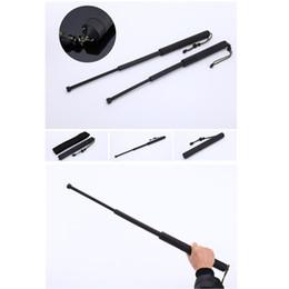 2020 bastoni di difesa Hot Self Defense Nero Tre allungabile leggero Rifiuto bastone di plastica di campeggio di sopravvivenza utensili a mano equipaggiamento protettivo bastoni di difesa economici