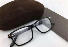 Hombres Marcos de gafas Marca Gafas Marcos Cuadrados con lentes transparentes Gafas ópticas Marco T5407 Gafas de miopía para mujeres con caja desde fabricantes