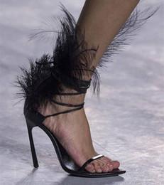 Neue Artikel für den Herbst Mode Weiße Feder Thin High Heel