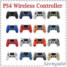2020 controladores de jogos sem fio Bluetooth PS4 Wireless Controller para PS4 Vibration Joystick Gamepad PS4 Game Controller para Sony Play Station com caixa de varejo controladores de jogos sem fio barato