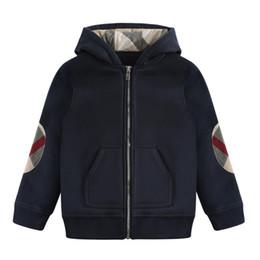 2019 estilo do exército da forma dos miúdos Lapela Zipper Cardigan com capuz jaqueta de algodão Casual 2019 Inverno New Boys' para o desgaste Crianças moda casual infantil