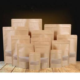 Gıda Nem geçirmez Çanta Alüminyum Folyo Astar Kraft Kağıt Stand Up Kılıfı Aperatif Şeker Çerez Pişirme Kilitli Ambalaj Çanta CLS293 cheap snack paper bag nereden çerez kağıdı çantası tedarikçiler