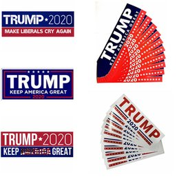 Donald Trump 2020 Adesivi per auto 7.6 * 22.9cm Bumper Sticker Keep Make America Grande decalcomania per Car Styling Paster Wall Stickers 6002 1000 pezzi da