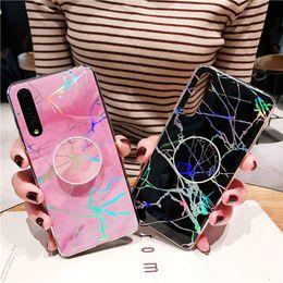telefoni cellulari colorati Sconti Holo della copertura del supporto del telefono del basamento in marmo Case for iPhone 11 Xs Max Samsung Galaxy S10 Inoltre S20 Pro Ultra Nota 10 A50 A70