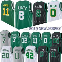 Melhores pássaros on-line-top ncaa 11 Irving Boston Mens Celtic 8 Walker camisa de basquete 0 Tatum 20 Hayward 7 Brown 42 Horford 12 Camisas de pássaro Rozier 33