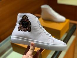 Argentina Pssrint Designers Zapatos de calidad superior para hombre Blanco Negro de cuero genuino diseñadores zapatillas de deporte de lujo diseñadores tamaño 38-45 de los zapatos ocasionales Suministro