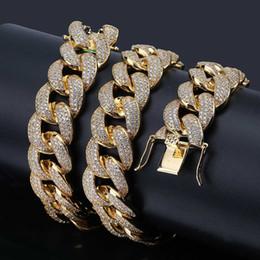 pendentifs mens asiatiques Promotion Collier Homme Cubain Chaîne Micro-zircon 18mm Haute Qualité En Europe et en Amérique