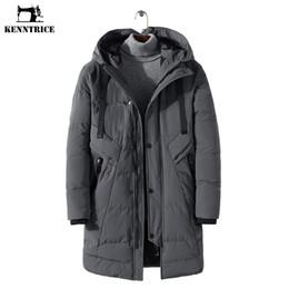 2020 giacche invernali di corea mans Giacca invernale da uomo KENNTRICE Windbreaker Keep Warm Ispessimento Trench Coat Hooded Men Parkas Simple Korea Style Size 4XL giacche invernali di corea mans economici