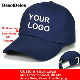 110d7ca7cde24 Custom Baseball Cap Print Logo Text Photo Embroidery Gorra Casual Solid Hats  Pure Color Black Cap Snapback Caps For Men Women